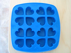 Ikea Plastis Ice Cube Tray with Heart-Shaped Ice Cubes