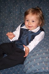 Nathan in his suit