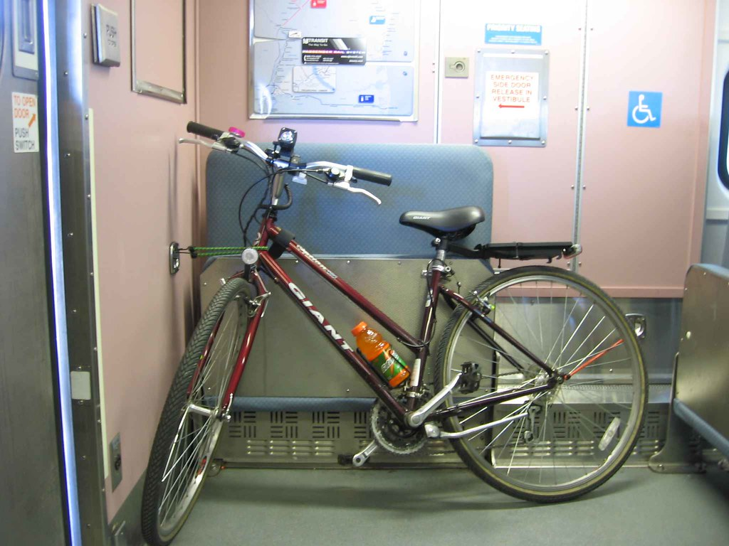 Bike on board NJ Transit train
