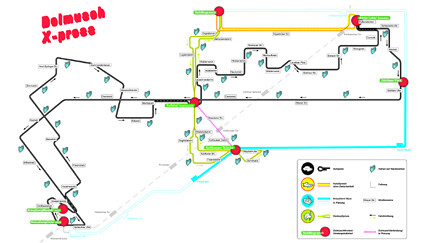 Berlin Dolmusch Xpress Map