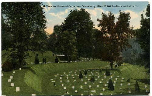 Postcard: Vicksburg Natl Cemetery early 1900s