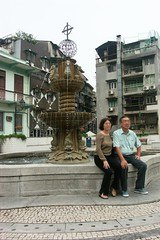 Macau Cathedral Fountain
