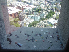 Coins in Coil Tower Window