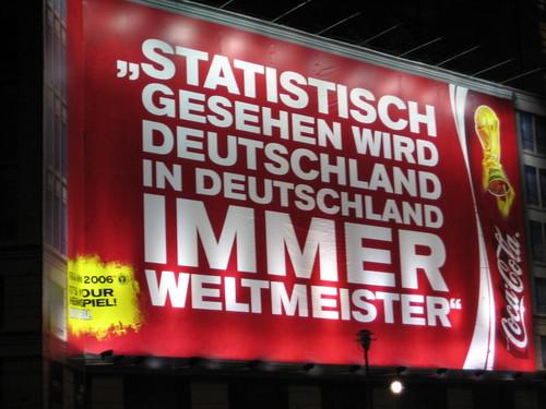 Statistisch gesehen wird Deutschland in Deutschland immer Weltmeister