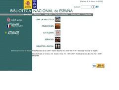 Web de la Biblioteca Nacional en 2005