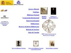 Web de la Biblioteca Nacional en 2001