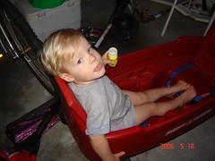 Ryan in Wagon