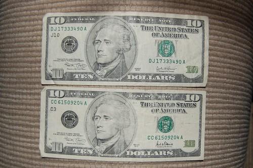 2 x $10 = $20