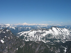 Kyes Peak, Glaicer Peak, And Tenpeak Ridge From Baring Mtn (Merchant Peak And Townsend Mtn In Foreground)