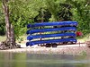 Canoes on the Illinois River