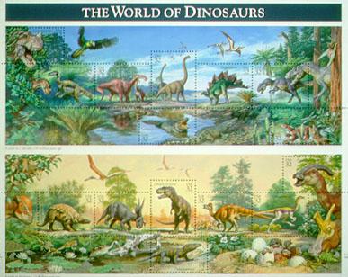 dinosaur stamp