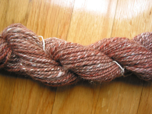 Dyed Corriedale X and silk, 2ply