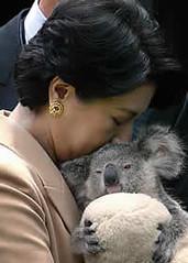 Masako durante un viaje oficial a Australia en diciembre de 2002