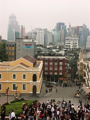 View of Macau from Ruins of the Church of St Paul