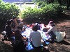 Picnic party in Komazawa Park