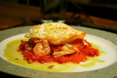 Crespelle di Scampi Hanging Out on a Plate