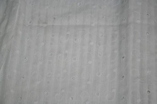 white eyelet fabric from Catrina