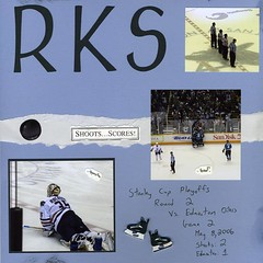 Sharks Scrapbook Page 2