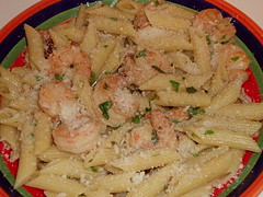 Shrimp with Sun-dried Tomatoes & Penne cu