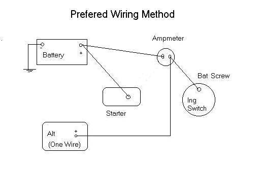 1 wire 6 volt alternator hookup rh forum studebakerdriversclub com gm single wire alternator diagram gm single wire alternator diagram