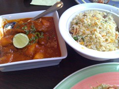 Lamb Vindaloo and Shahi Persian Pilaf