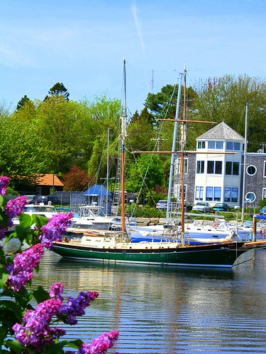 Lilacs and Boats
