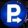 Blue parking