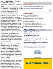 ADI_pays_23M_for_TTPCom_GSMGPRS_Software