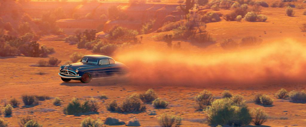 Hudson Hornet drifting