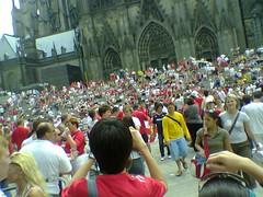 englische & schwedische Fans in Köln