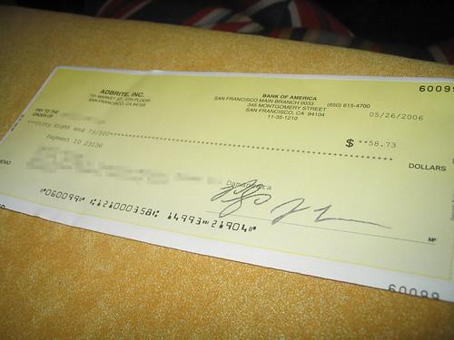 Adbrite Cheque