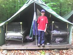 At camp....