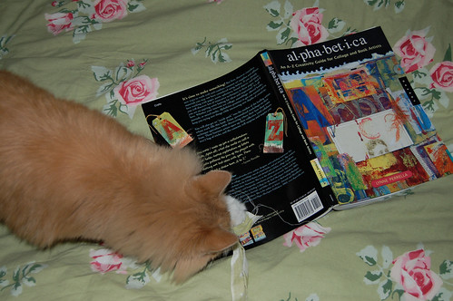 Favorite cat and favorite book Alphabetica - An A-Z Creativity Guide for Collage and Book Artists  - Photo Copyright Hanna Andersson