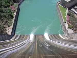 Shasta Dam, Down Spillway