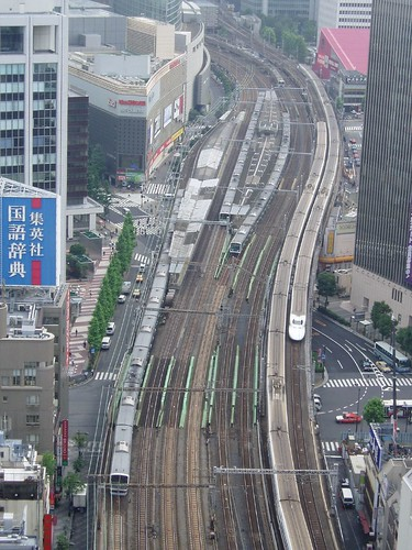 Tokyo rail lines from my hotel
