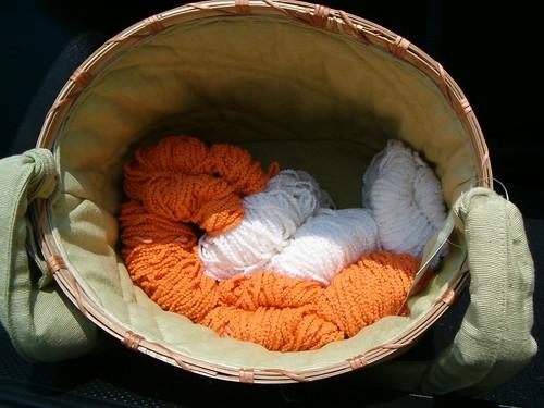 Lantern Moon Basket w/Star Yarn