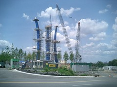Air Force Memorial Construction, view from Columbia Pike