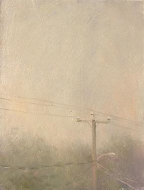 Telephone Pole In The Rain - Duane Keiser