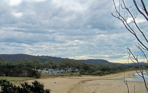 Caravan park end of Umina Beach from Mount Ettalong