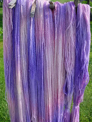 Hand painted 50% merino-50% Angora Yarn
