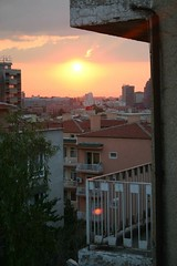Sunset seen from Guzden's apartment in Ankara