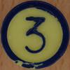 Colour Bingo yellow number 3