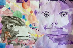 2-D Watercolor Composition, Yanina Lanfray. photo by Cavalier Art RM 204