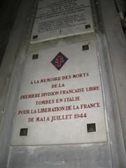 Italie- Rome- Eglise Saint Louis des Français Plaque mémoire des combattants de la DFL - CP : Etienne Jacheet
