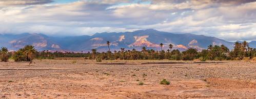 L'Atlas depuis Skoura, Maroc