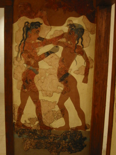 Fresco of the Boxing Boys, Santorini