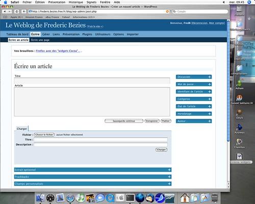 Wordpress sous Safari
