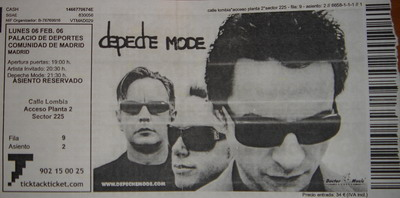 depeche mode ticket