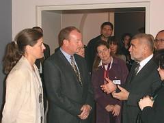 Sara Sekkenes (NPA), John Rodsted (photographer), Anne Capelle (ICBL), Stipe Mesic-Croatia President