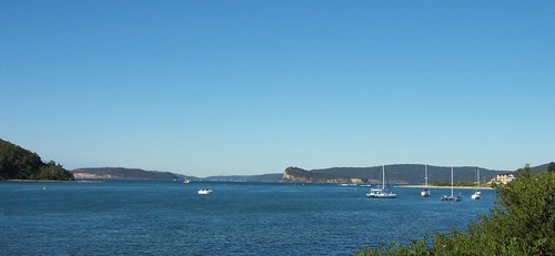 Lion Island, Barrenjoey Head & Wagstaffe from Memorial Ave Ettalong
